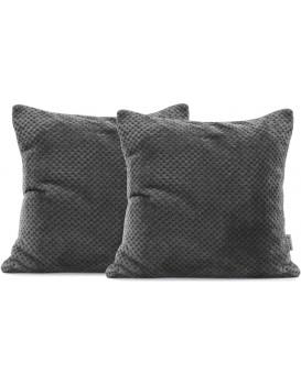 Povlaky na polštáře Decoking Xela tmavě šedé 45x45 - 2 kusy