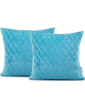 Obliečka na vankúš DecoKing SARDI 45 × 45 cm modrá