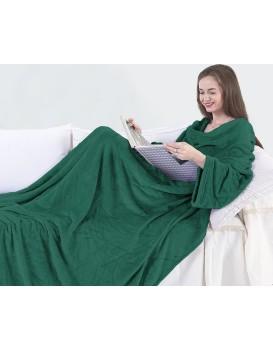 Deka s rukávy DecoKing Lazy zelená