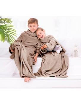 Detská deka s rukávmi DecoKing Lazy béžová