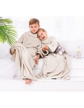 Dětská deka s rukávy DecoKing Lazy krémová