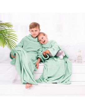 Detská deka s rukávmi DecoKing Lazy mätová