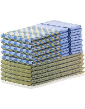Súprava 10 utierok DecoKing Terry žlto-modrá