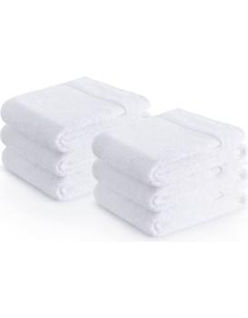 Sada bavlněných ručníků Zender POIS 50x100 cm 500g/m2 bílá