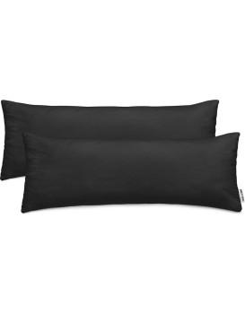 Povlaky na polštáře DecoKing Amber černé