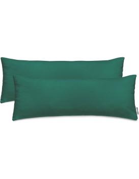 Povlaky na polštáře Amber láhvově zelené