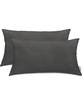 Povlaky na polštáře DecoKing Amber I tmavě šedé