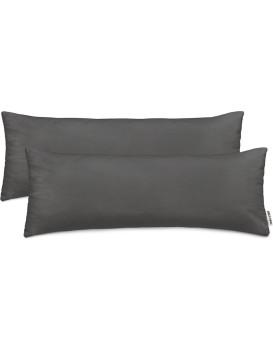 Povlaky na polštáře Amber tmavě šedé