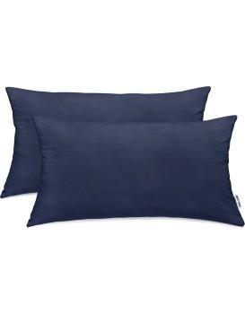 Povlaky na polštáře DecoKing Amber tmavě modré