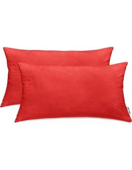 Povlaky na polštáře DecoKing Amber III červené