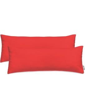 Povlaky na polštáře DecoKing Amber I červené