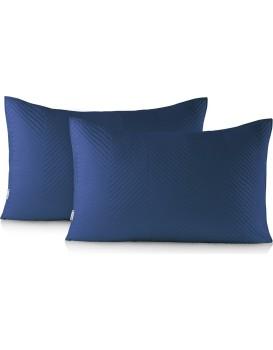 Povlaky na polštáře DecoKing Messli I modré