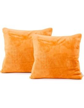 Sada dvou povlaků na polštář Mic oranžová