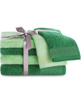 Sada bavlněných ručníků DecoKing Andrea mátová/zelená