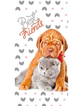 Bavlnená osuška  Best Friends 002- 70x140 cm
