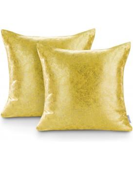 Sada dvou povlaků na polštář AmeliaHome Glamour Veras žlutá