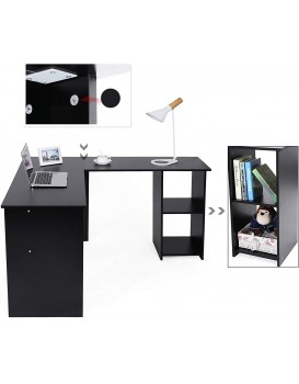 Písací rohový stôl SKU Zion čierny