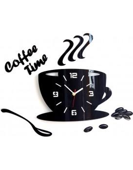 Nástěnné hodiny Coffee černé