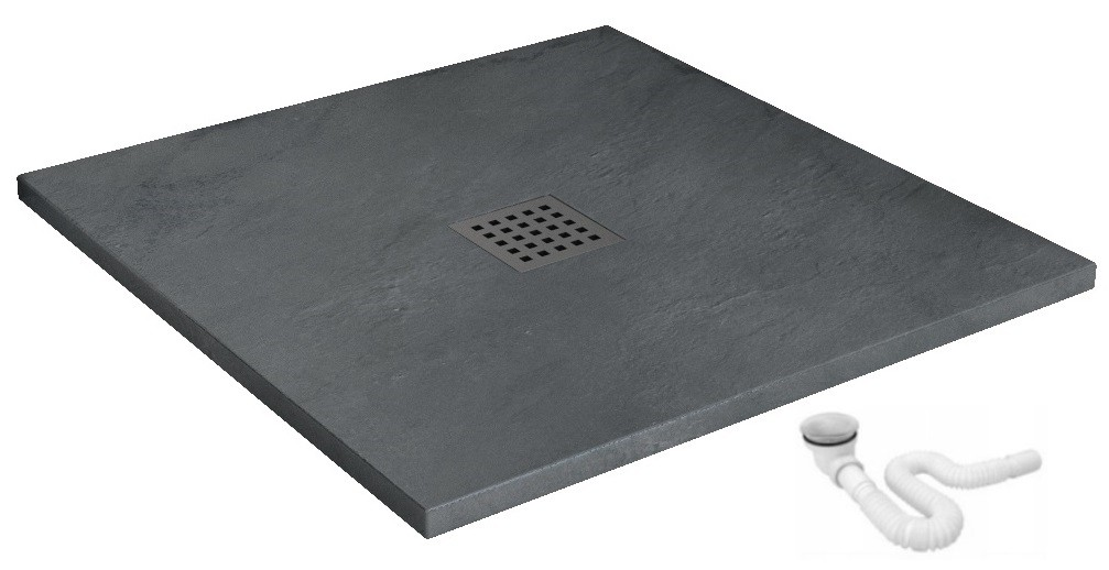 Sprchová vanička Grey Rock 90x90 cm šedá