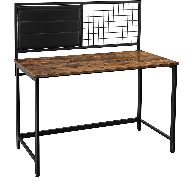 Psací stůl VASAGLE Aenna hnědý/černý