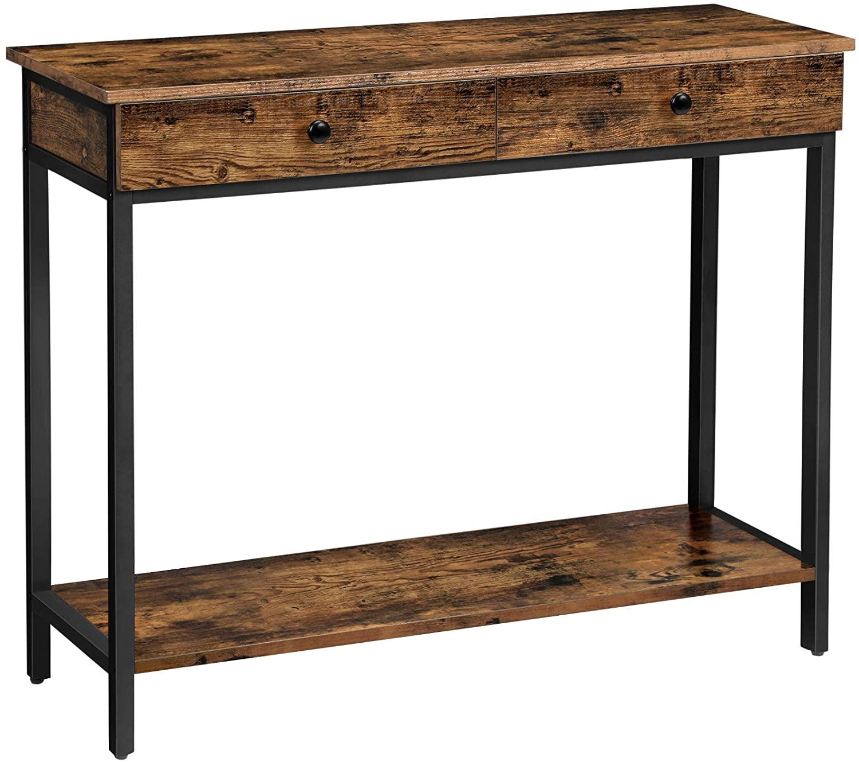 Konzolový stôl VASAGLE Vincyer hnedý / čierny