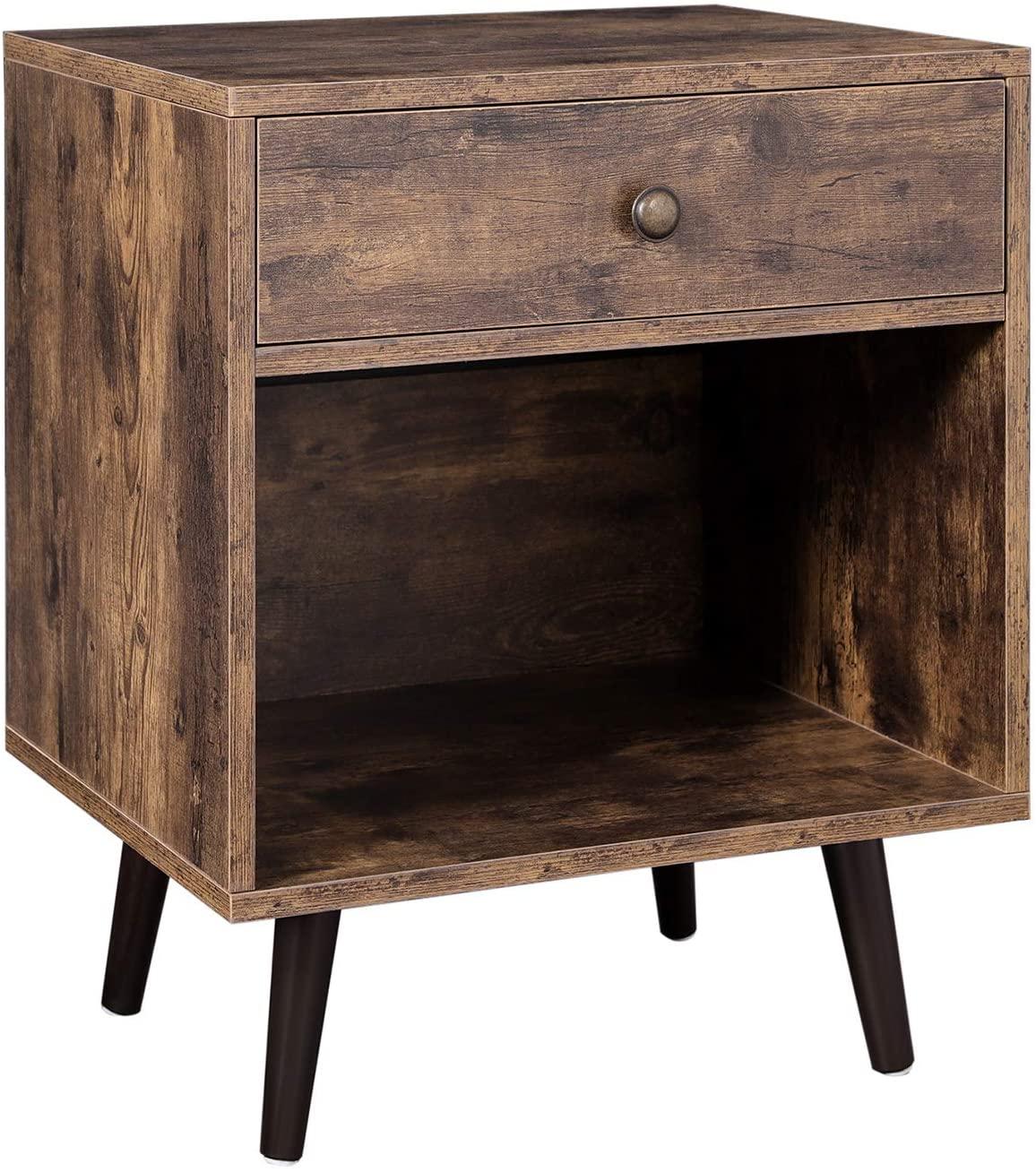 Noční stolek VASAGLE Lexi hnědý