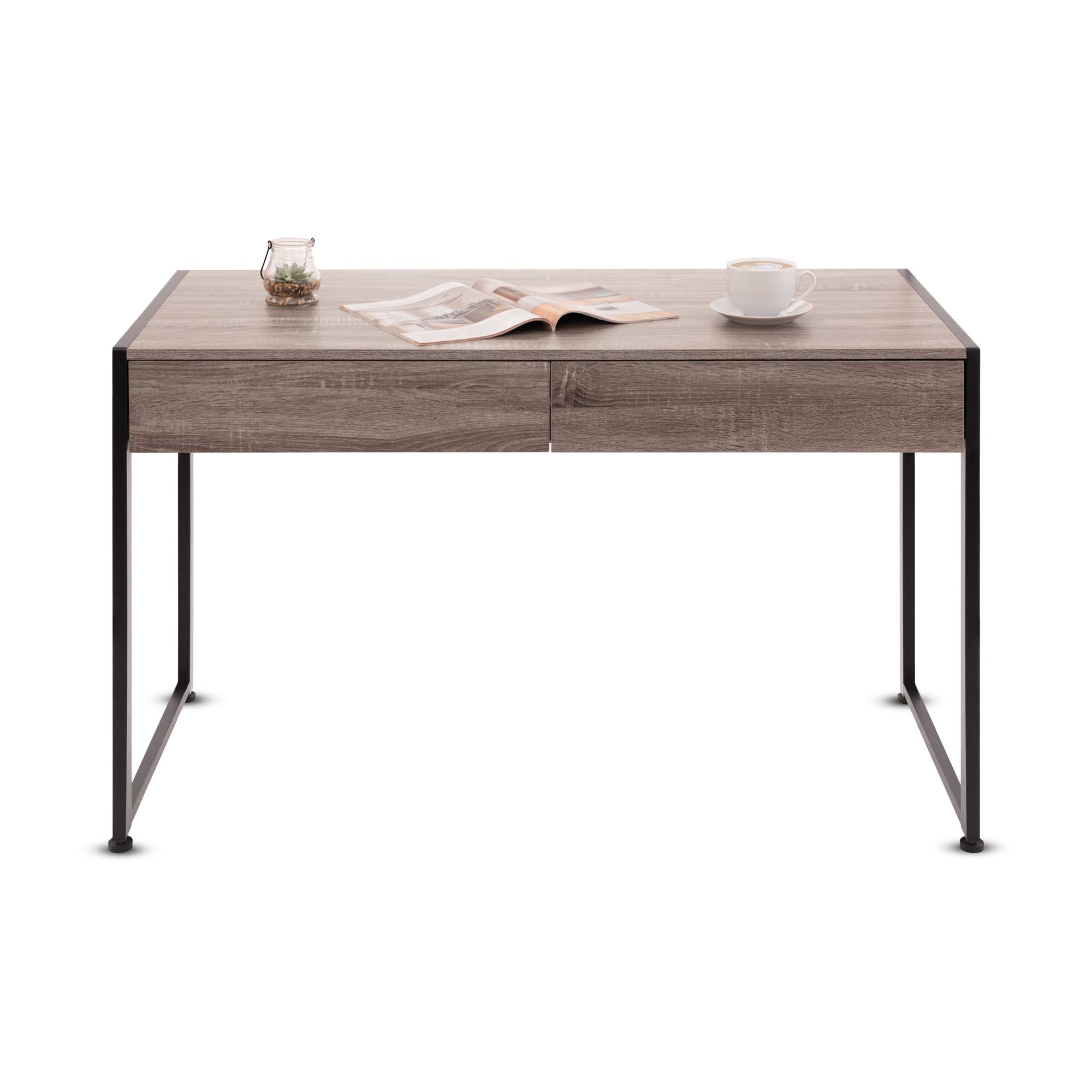 Písací stôl škandinávskeho štýlu - hnedý