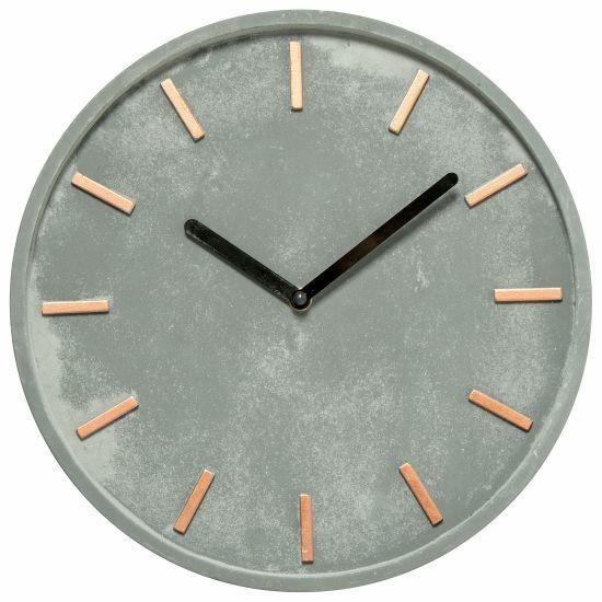 Nástěnné hodiny 27,5 cm cement