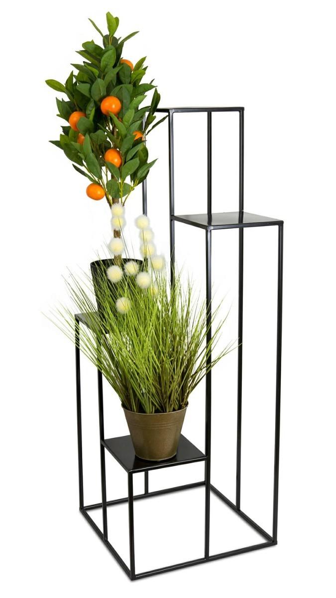 Stojan na květiny 110 cm černý