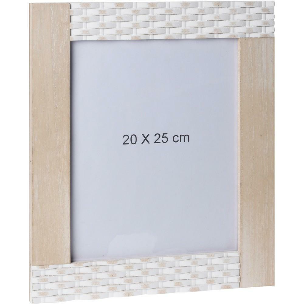 Obdĺžnikový nástenný rámček 20 × 25 cm - hnedý