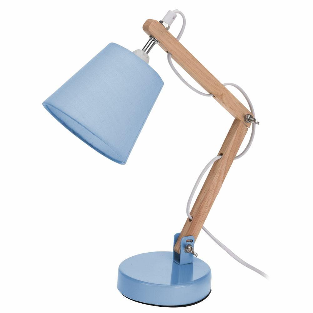 Stolná lampička s tienidlom - modrá