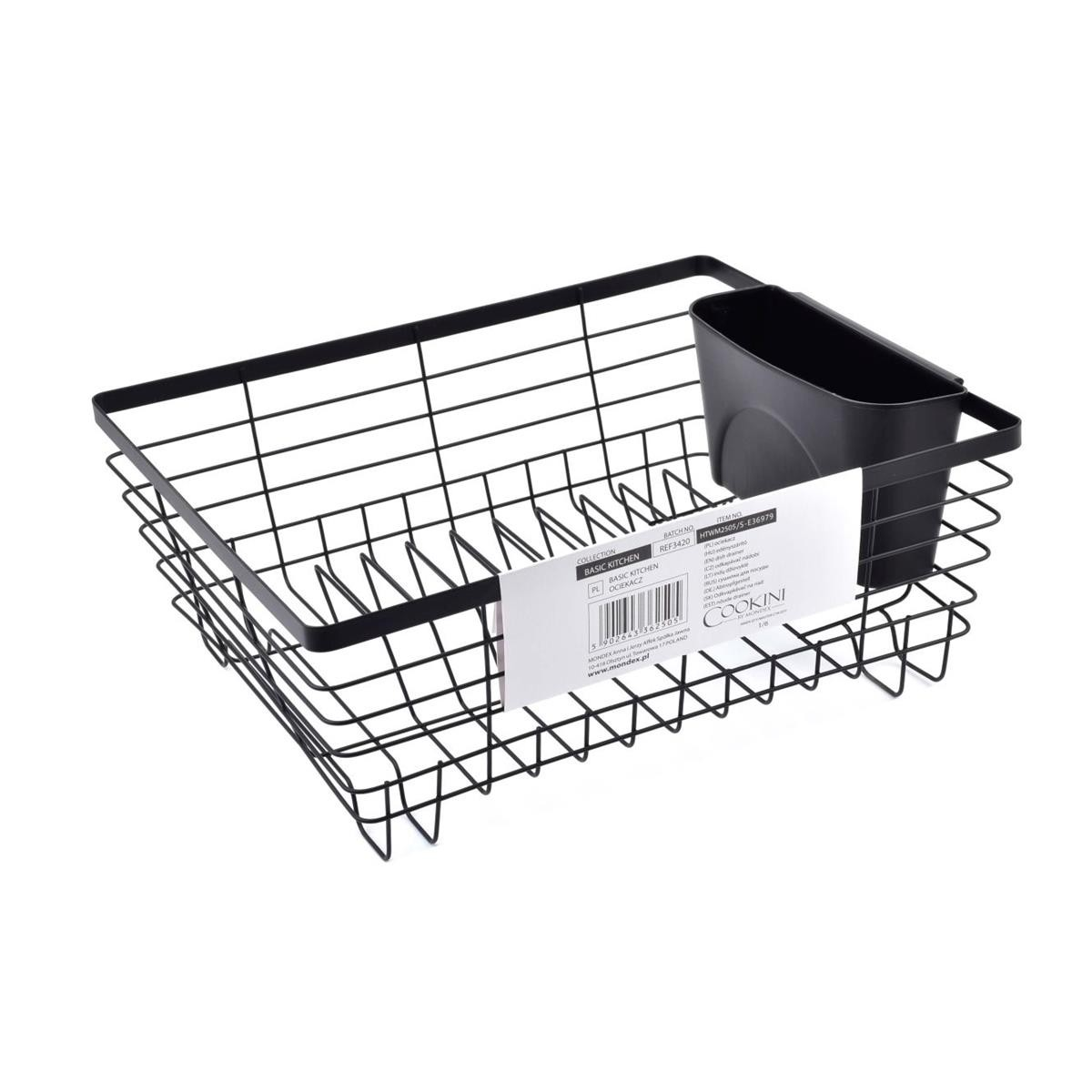 Odkapávač na nádobí Wire černý