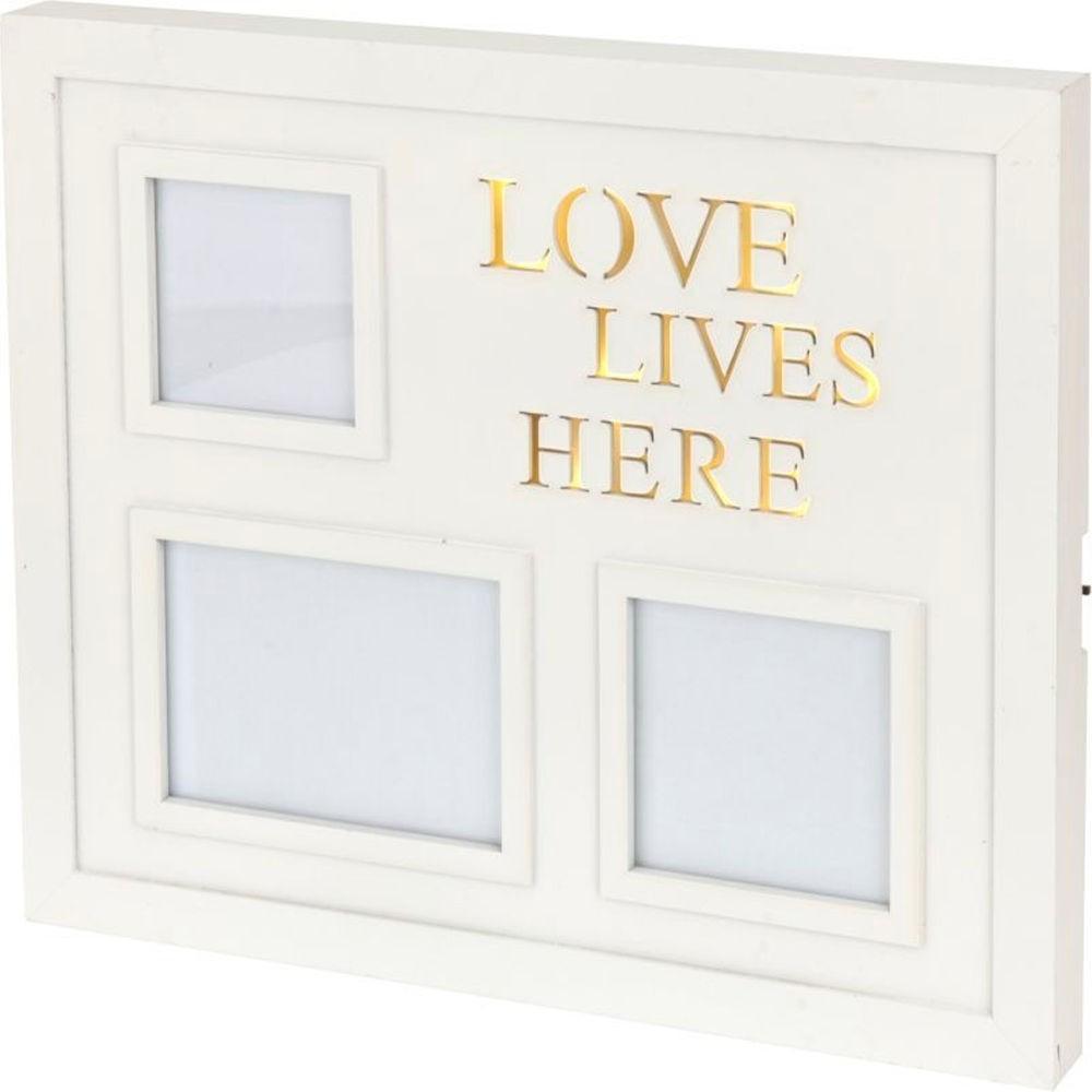 Rámček na stenu pre 3 fotografie LED