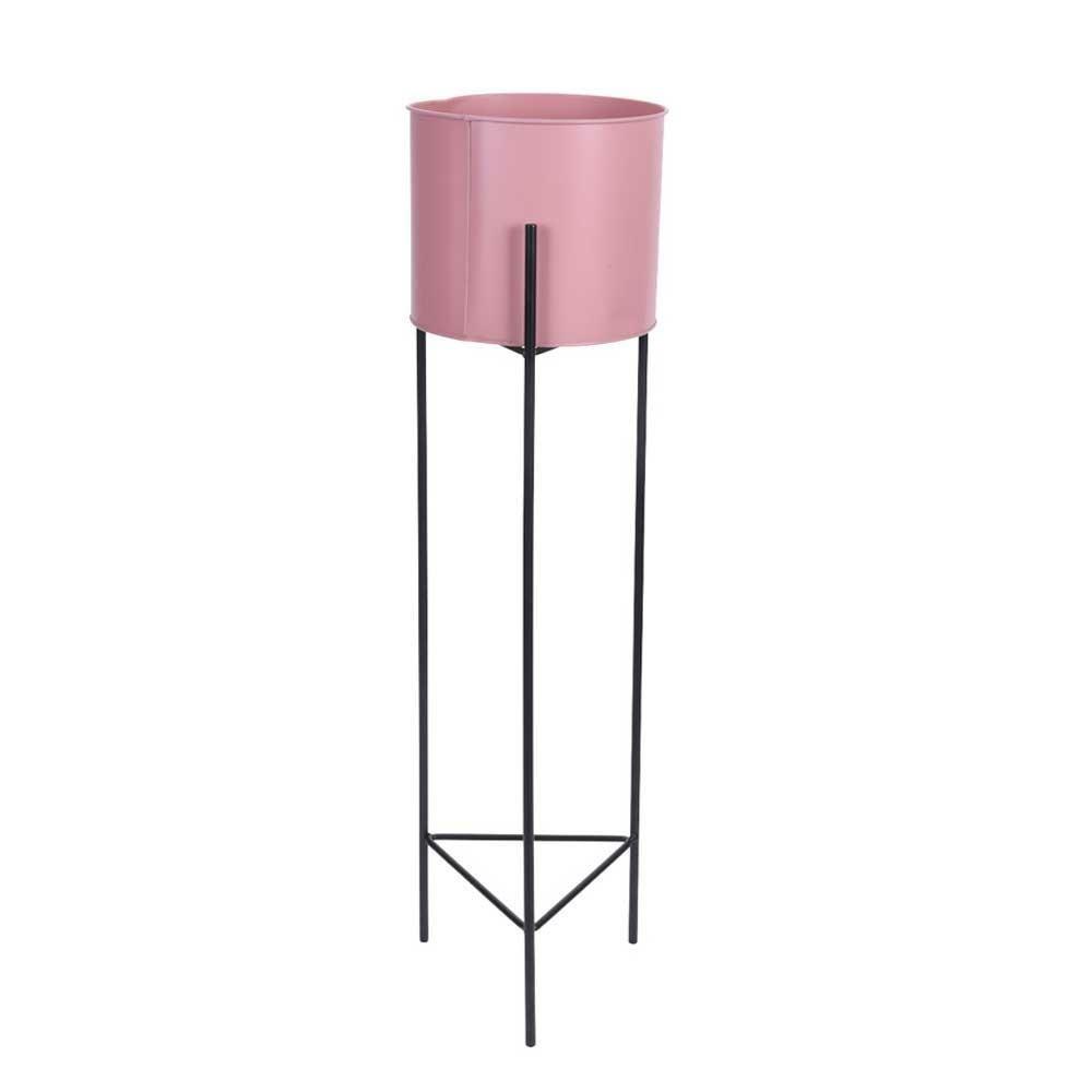 Moderní stojan na květiny s květináčem 53 cm- růžový