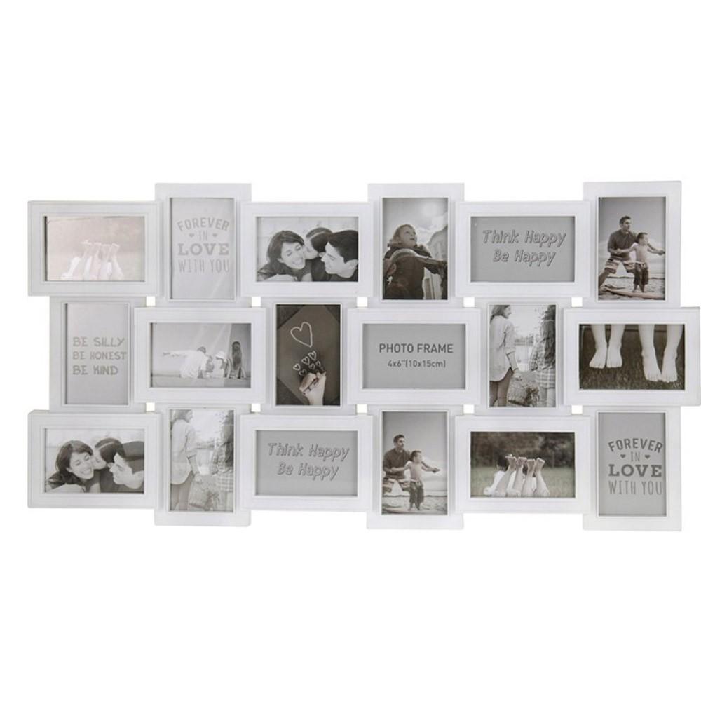 Rámeček na stěnu - 18 fotografií 10 x 15 cm - bílá