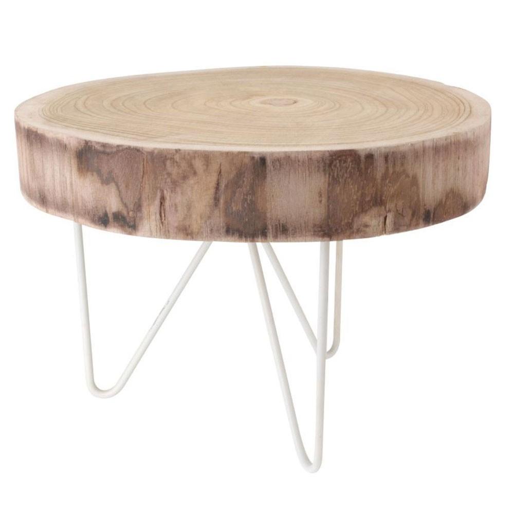 Guľatý konferenčný stolík na 3 nohách