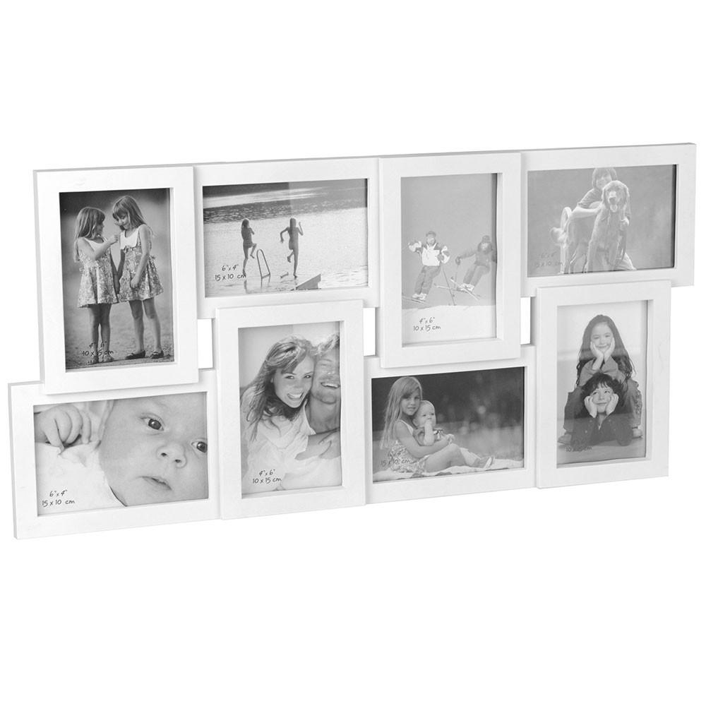 Rámček na stenu Happy - 8 fotografií 10 × 15 cm - biely