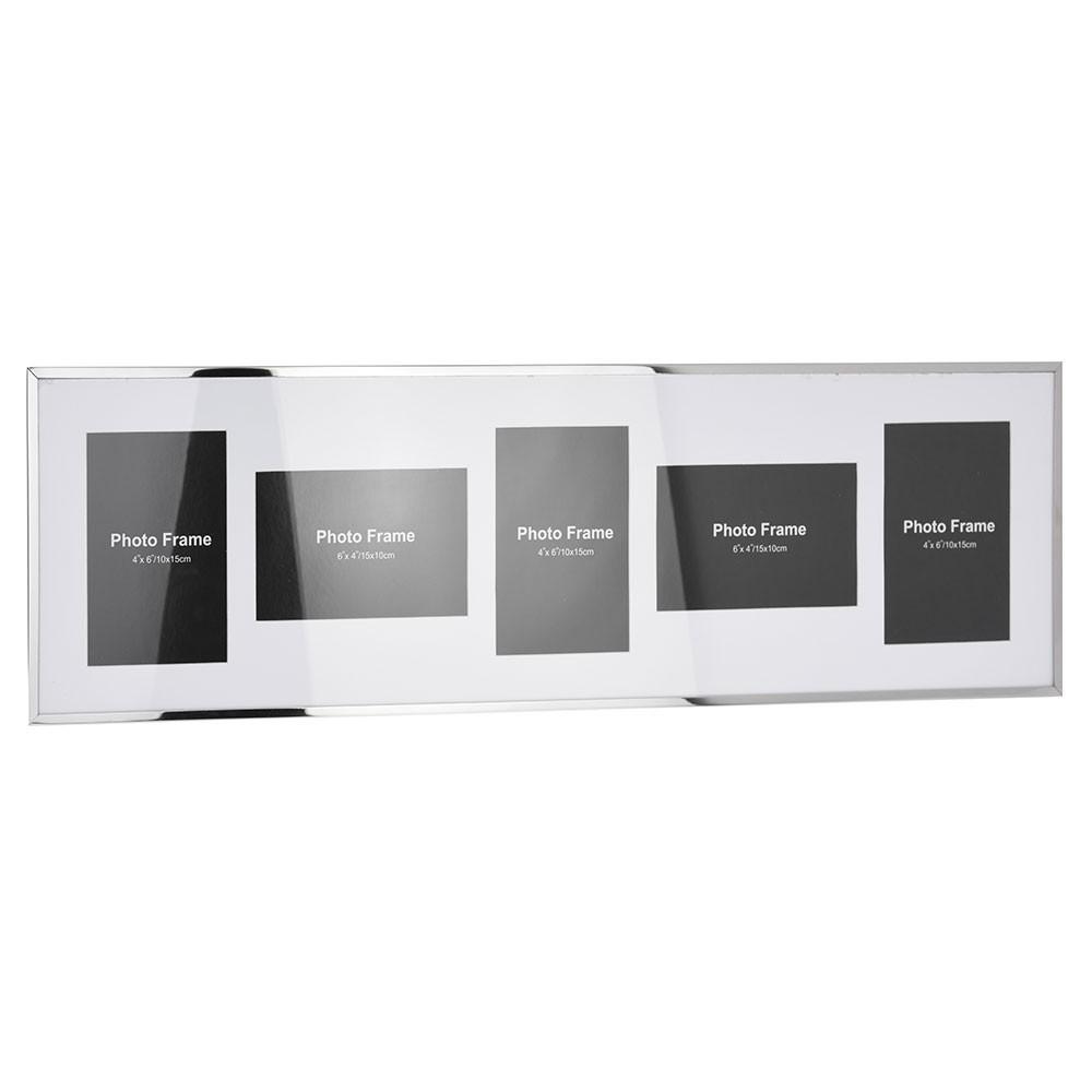 Nástenný rámček pre 5 fotografií 10 × 15 cm - biely