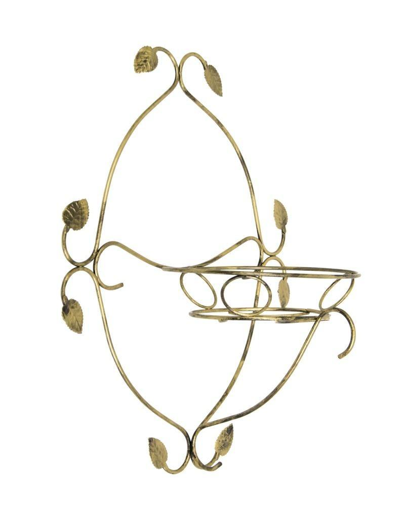 Kovový nástěnný květinový držák