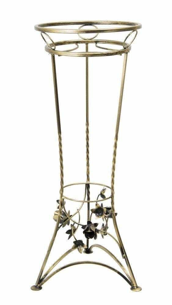 Kovový stojan na květináč Sibyl- ČERNÝ