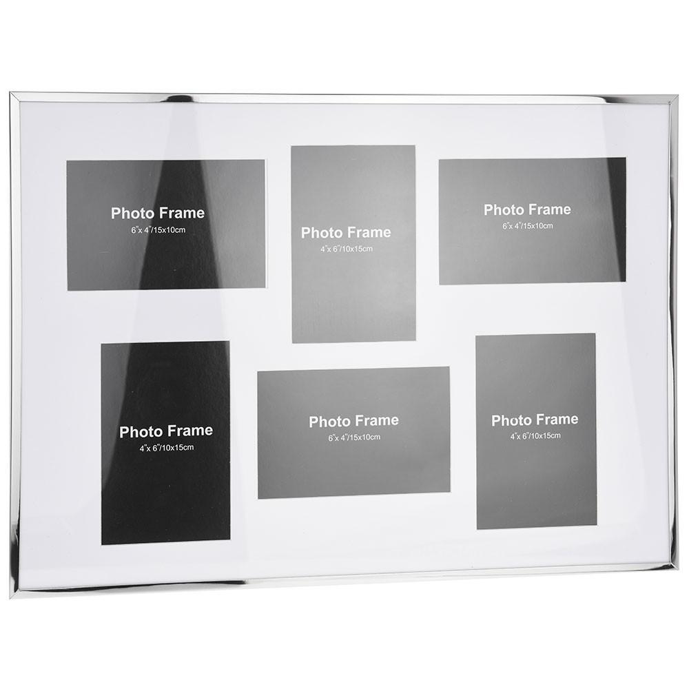 Rámeček na stěnu - 6 fotografií 10 x 15 cm - bílá
