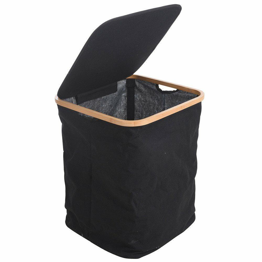 Koš na prádlo černý 52 cm