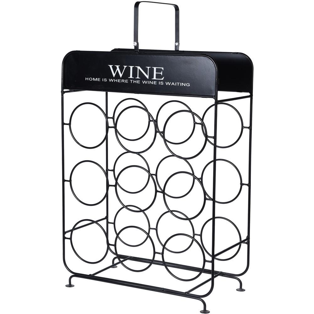 Stojan na víno WINE černý