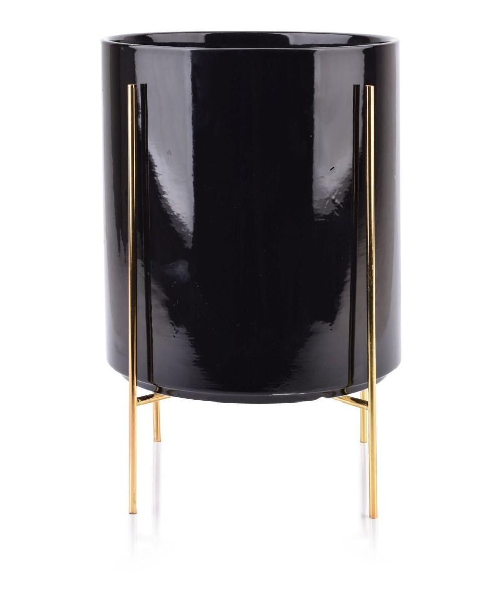 Květináč na stojanu Neva 34 cm černý