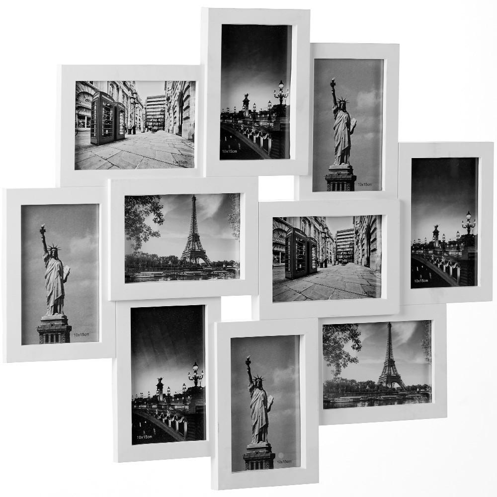Fotorámeček pro 10 fotografií bílý