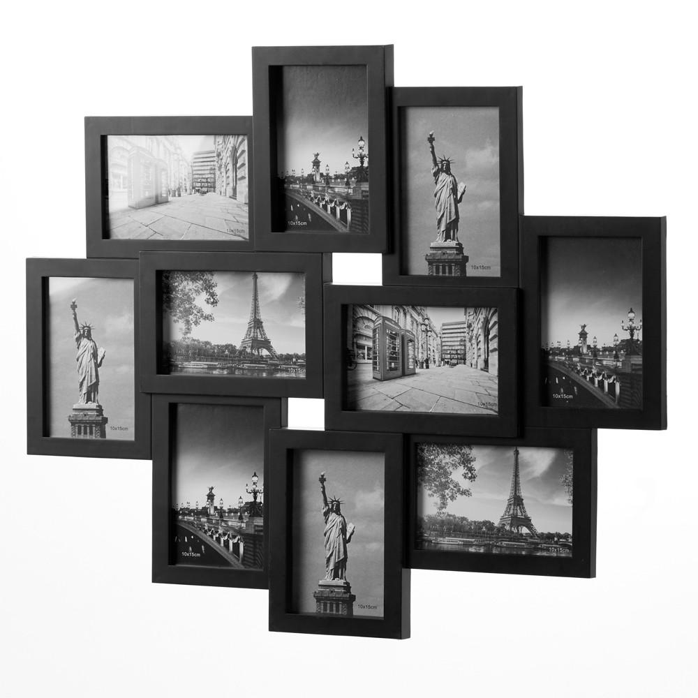 Fotorámeček pro 10 fotografií černý