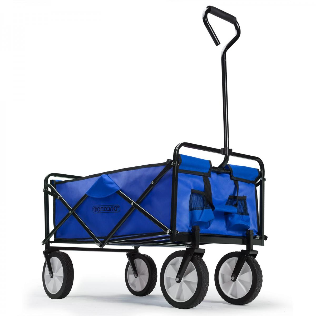 Skládací ruční vozík Reny modrý