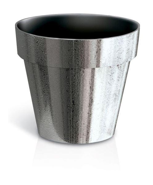 Květináč Cube Silver Chrome