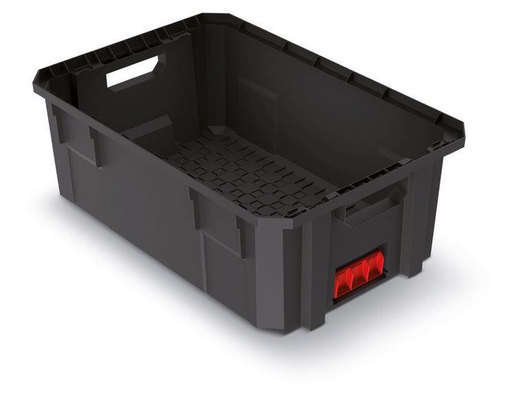 Modulární přepravní box BLOKPRO černý 544x362x200