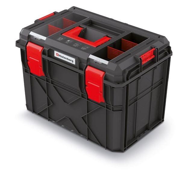 Kufr na nářadí X-BLOCK LOG 54,6x38x40,7 cm černo-červený